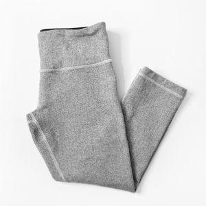 LULULEMON Grey Herringbone Capri Yoga Leggings